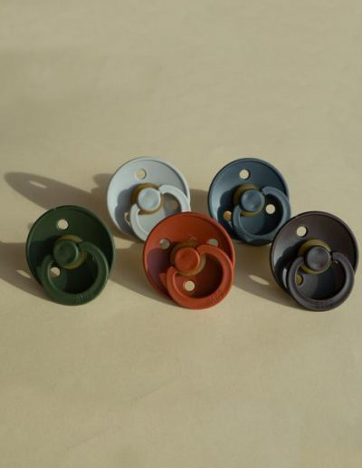 bibs-pacifiers-earth-colours