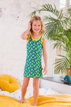 claesens meisje jurk banaan